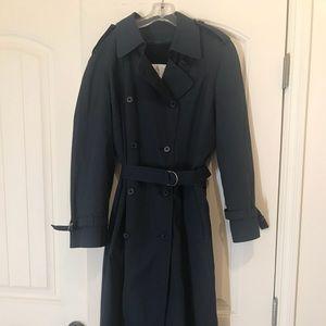 London Fog Rain Coat Navy Blue